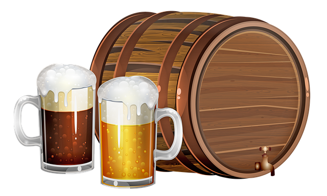 sud piva kreslený