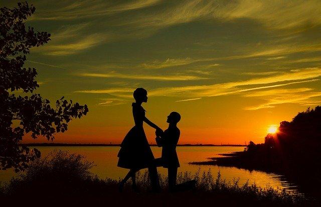 zamilovaný muž a žena
