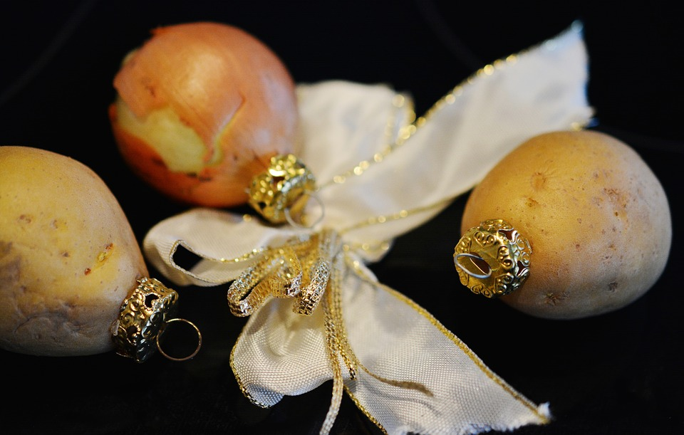ozdobené brambory